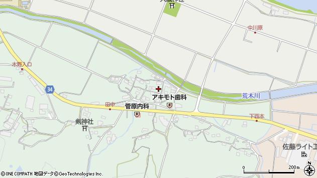 大分県国東市安岐町西本875周辺の地図