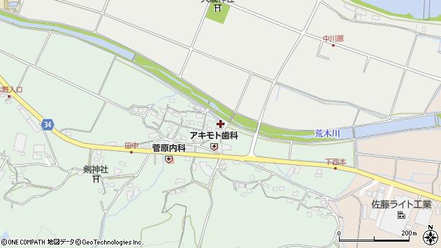 大分県国東市安岐町西本880周辺の地図