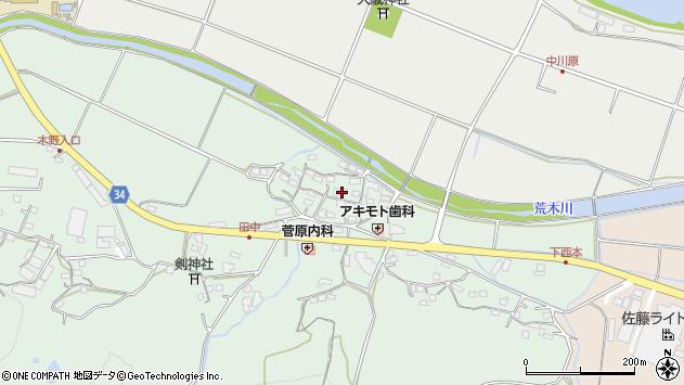 大分県国東市安岐町西本867周辺の地図