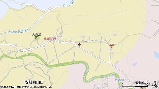 大分県国東市安岐町山口365周辺の地図