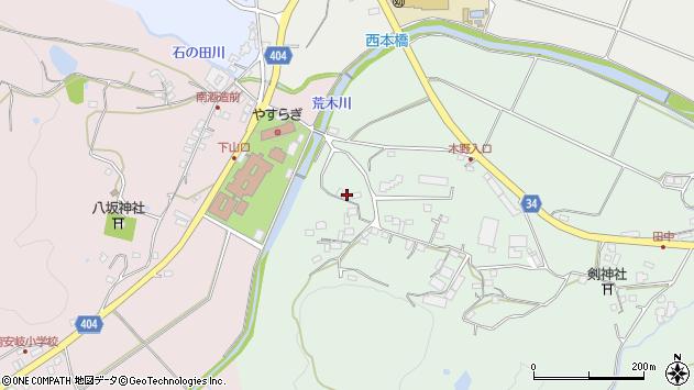 大分県国東市安岐町西本307周辺の地図