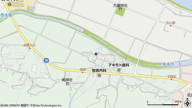 大分県国東市安岐町西本843周辺の地図