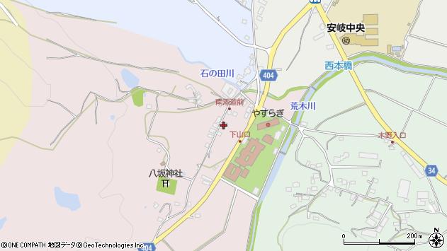 大分県国東市安岐町下山口28周辺の地図