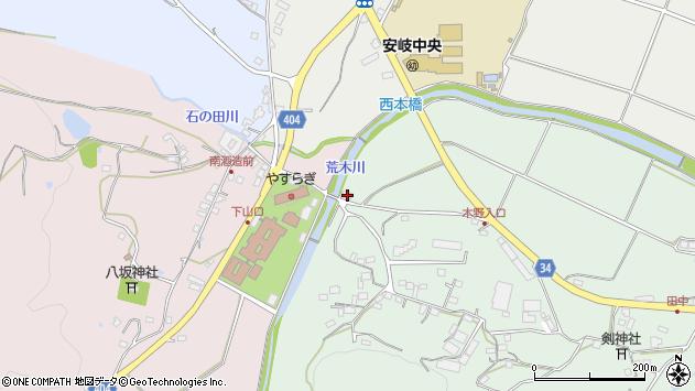 大分県国東市安岐町西本266周辺の地図