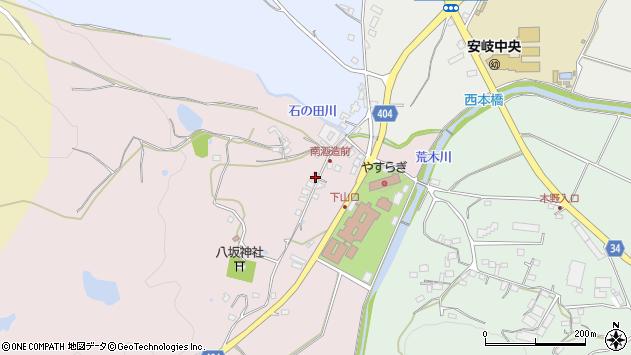 大分県国東市安岐町下山口32周辺の地図