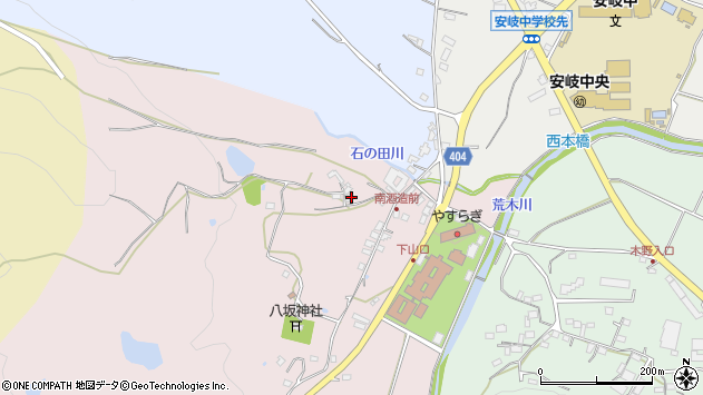 大分県国東市安岐町下山口201周辺の地図