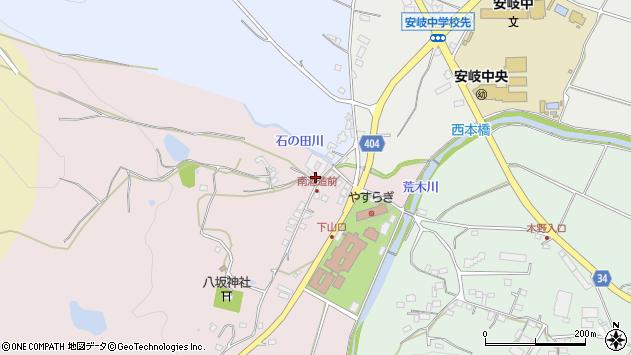 大分県国東市安岐町下山口268周辺の地図