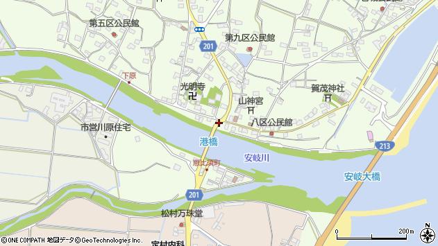 大分県国東市安岐町下原2467周辺の地図