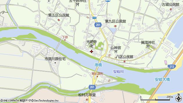大分県国東市安岐町下原2513周辺の地図