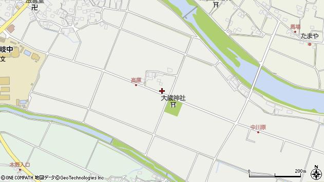 大分県国東市安岐町中園石田周辺の地図
