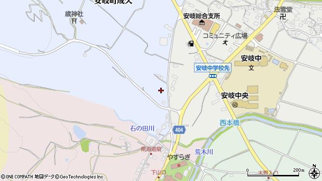 大分県国東市安岐町成久97周辺の地図