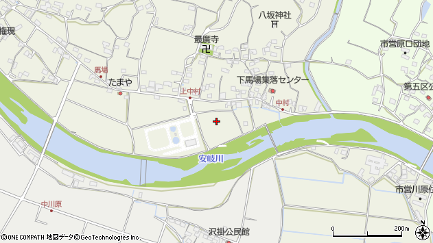 大分県国東市安岐町馬場中村周辺の地図