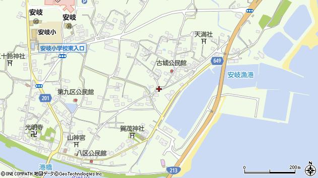 大分県国東市安岐町下原3166周辺の地図