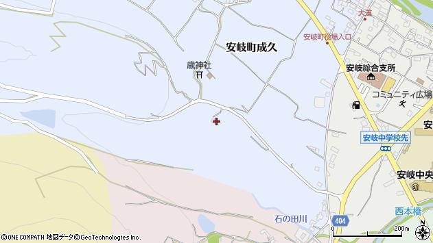 大分県国東市安岐町成久198周辺の地図