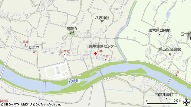 大分県国東市安岐町馬場698周辺の地図