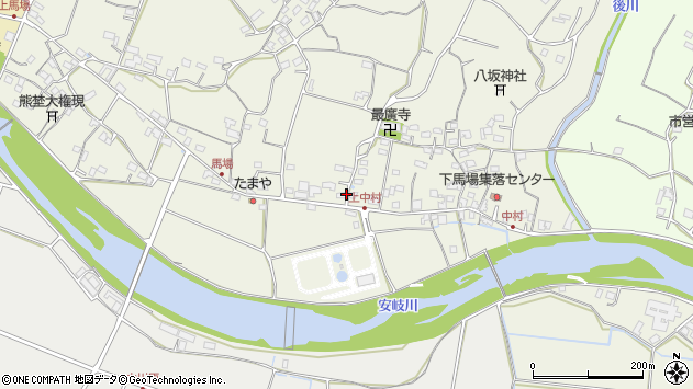 大分県国東市安岐町馬場817周辺の地図