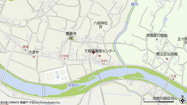 大分県国東市安岐町馬場周辺の地図