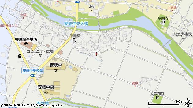 大分県国東市安岐町中園599周辺の地図