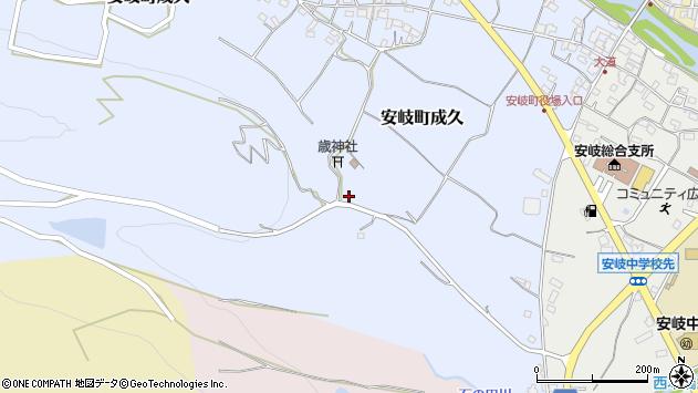 大分県国東市安岐町成久333周辺の地図