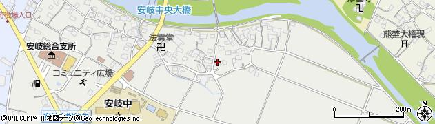 大分県国東市安岐町中園580周辺の地図