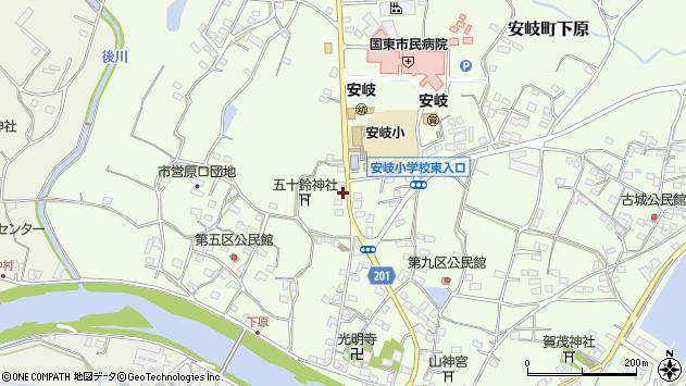 大分県国東市安岐町下原2091周辺の地図