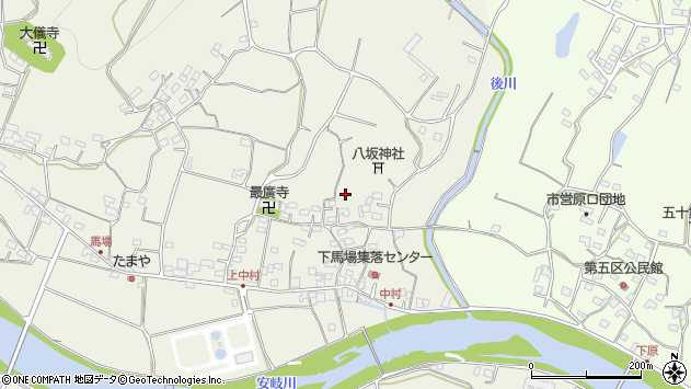 大分県国東市安岐町馬場592周辺の地図