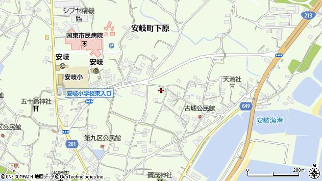 大分県国東市安岐町下原3013周辺の地図