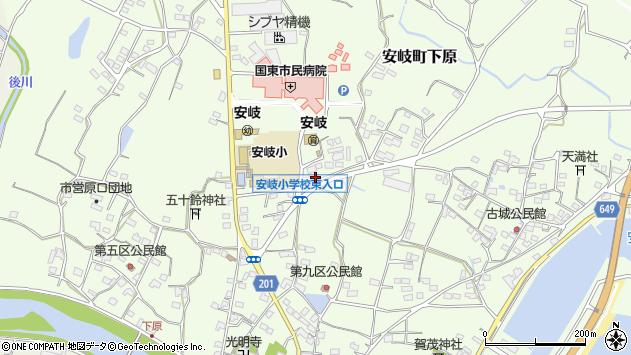 大分県国東市安岐町下原1267周辺の地図