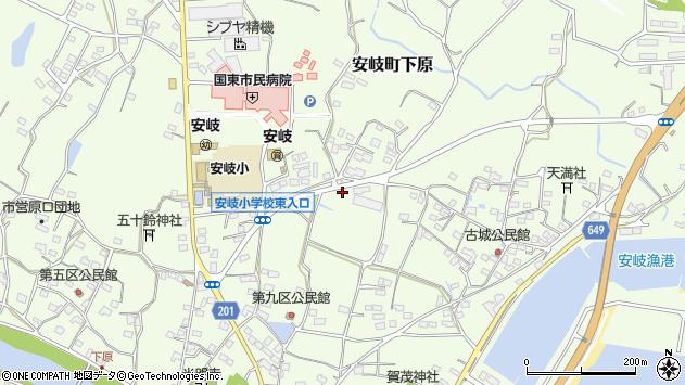 大分県国東市安岐町下原1241周辺の地図