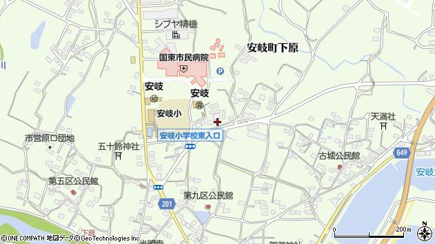 大分県国東市安岐町下原1277周辺の地図