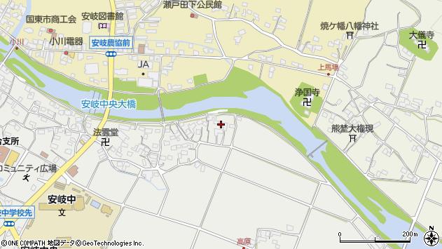 大分県国東市安岐町中園556周辺の地図