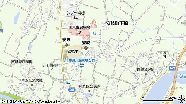 大分県国東市安岐町下原1276周辺の地図