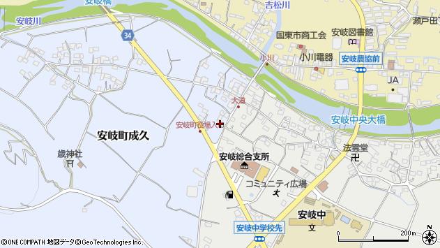 大分県国東市安岐町成久51周辺の地図