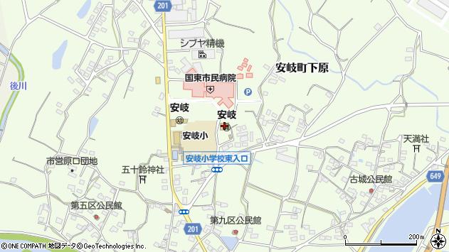 大分県国東市安岐町下原1273周辺の地図