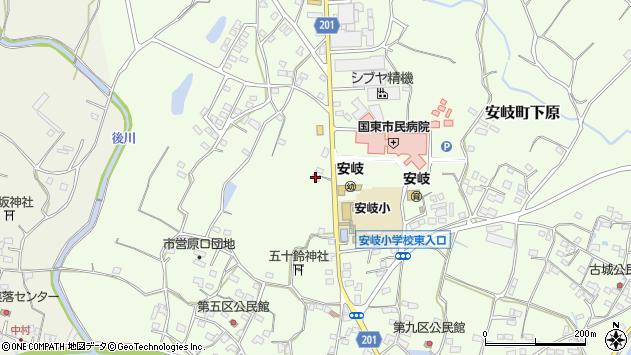 大分県国東市安岐町下原2060周辺の地図