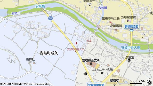 大分県国東市安岐町成久43周辺の地図