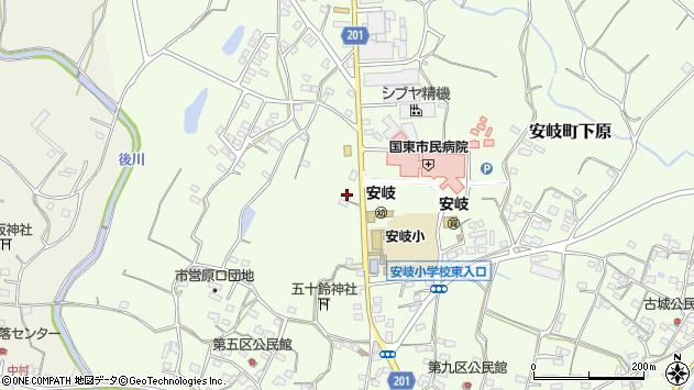 大分県国東市安岐町下原2062周辺の地図