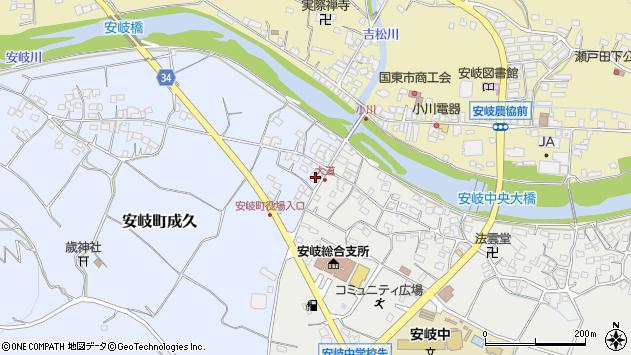 大分県国東市安岐町成久16周辺の地図