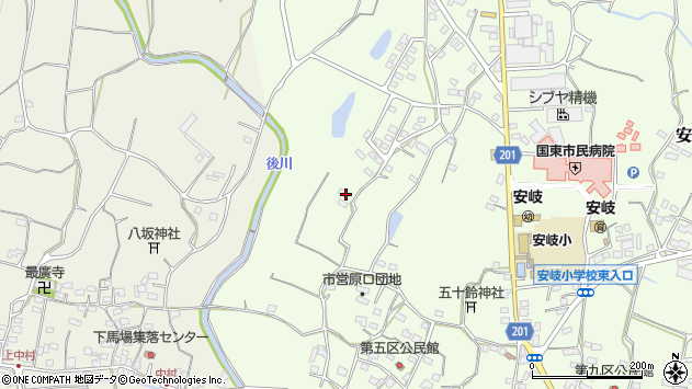 大分県国東市安岐町下原1890周辺の地図