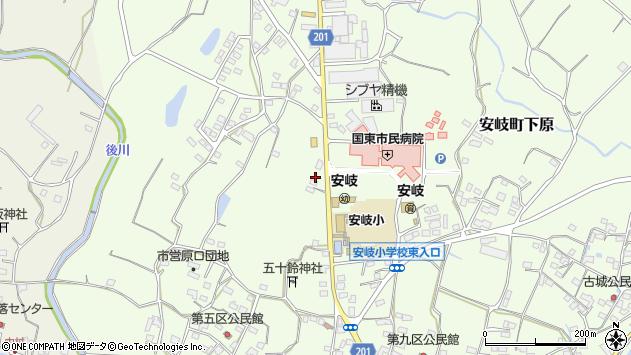 大分県国東市安岐町下原1467周辺の地図