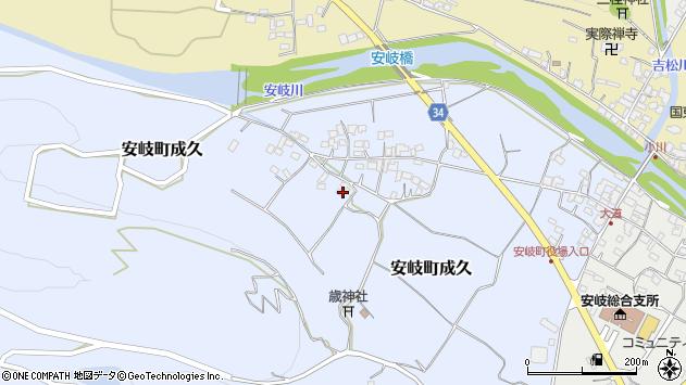 大分県国東市安岐町成久618周辺の地図