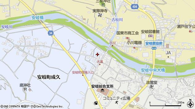 大分県国東市安岐町成久11周辺の地図