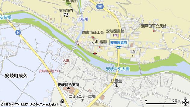 大分県国東市安岐町瀬戸田707周辺の地図