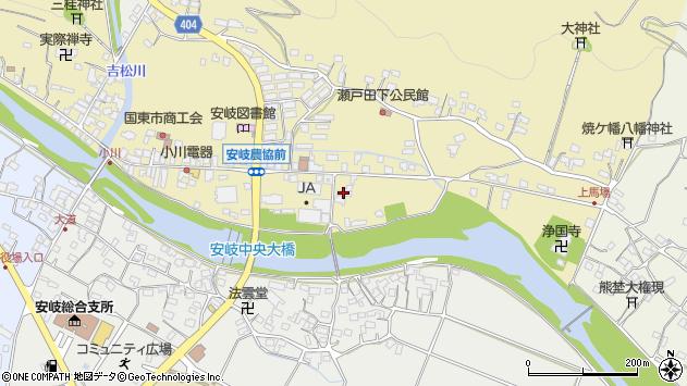 大分県国東市安岐町瀬戸田583周辺の地図