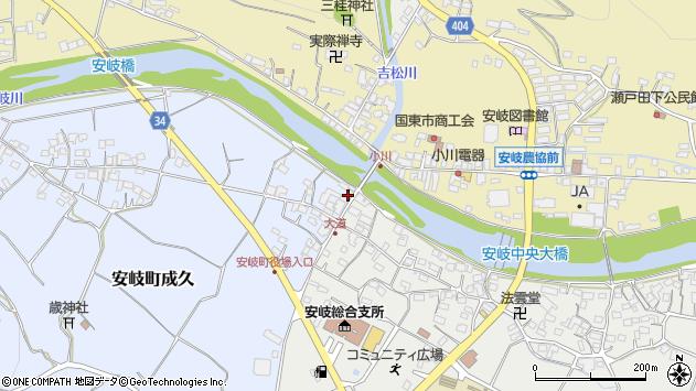 大分県国東市安岐町成久5周辺の地図