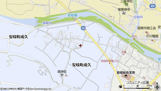 大分県国東市安岐町成久474周辺の地図