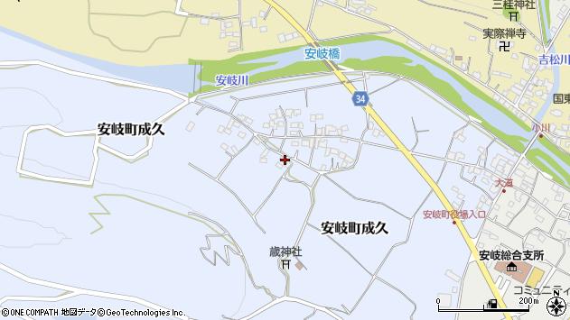 大分県国東市安岐町成久617周辺の地図