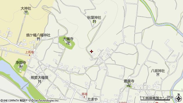 大分県国東市安岐町馬場平周辺の地図