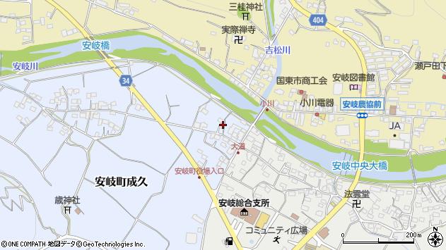 大分県国東市安岐町成久24周辺の地図