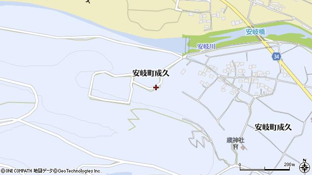 大分県国東市安岐町成久688周辺の地図